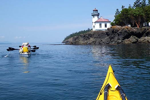 Kayaking off of Lime Kiln Point, San Juan Island.
