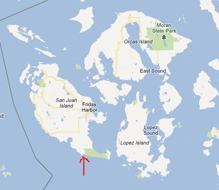 Map of Grannies Cove on San Juan Island