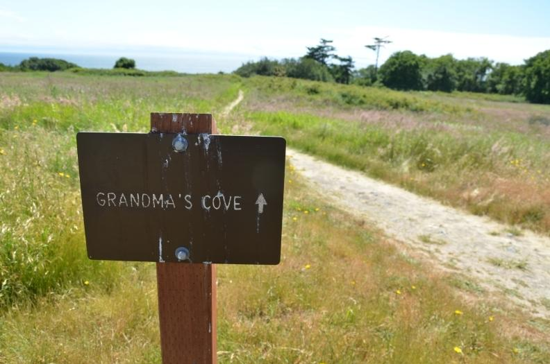 Sign to Grandmas Cove , American Camp , San Juan Island. Image courtesy of Intrepidor.com