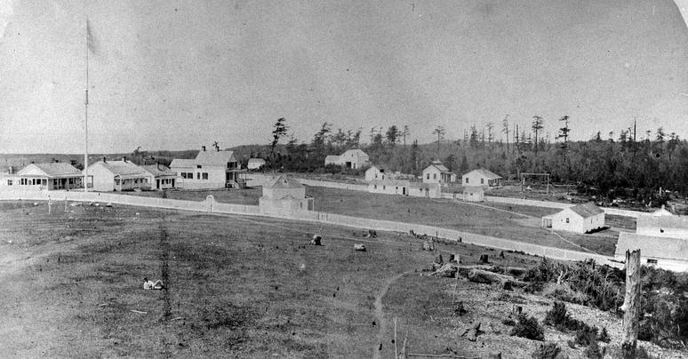 American Camp as it existed in 1868