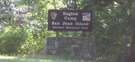 Sign for British Camp , San Juan Island