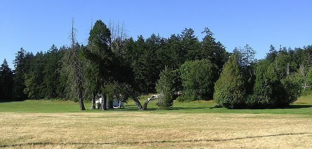 British Camp grounds, National Historical Park, San Juan Island