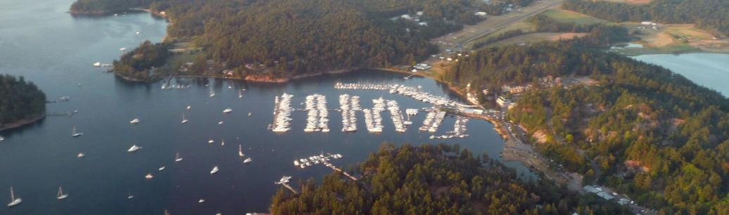 Ariel view of Roche Harbor