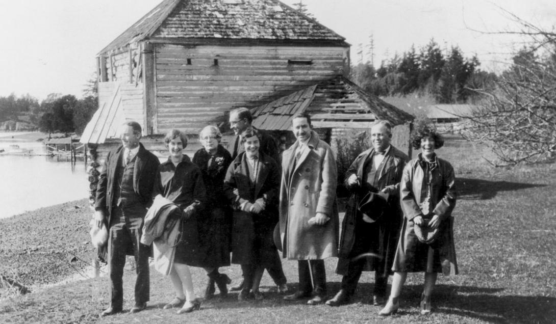 Unknown individuals from Roche Harbor at English Camp. Photo courtesy of Roche Harbor