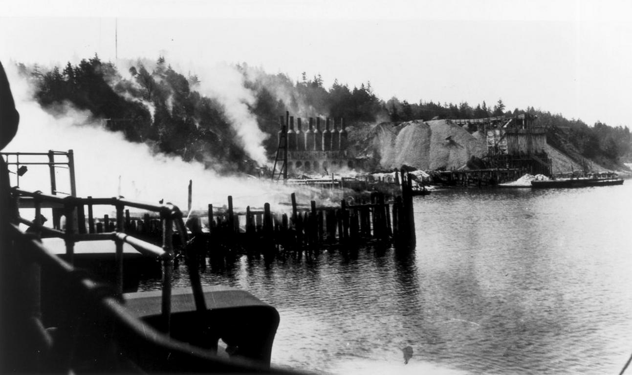 Roche Harbor after a large fire