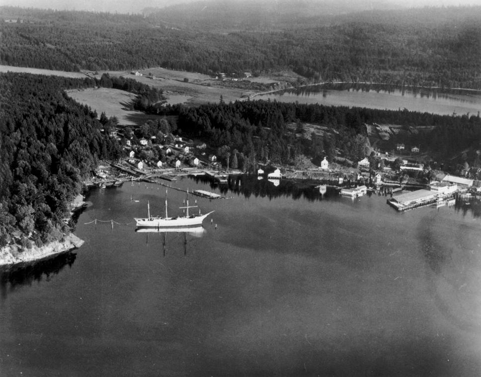 Ariel view of Historic Roche Harbor