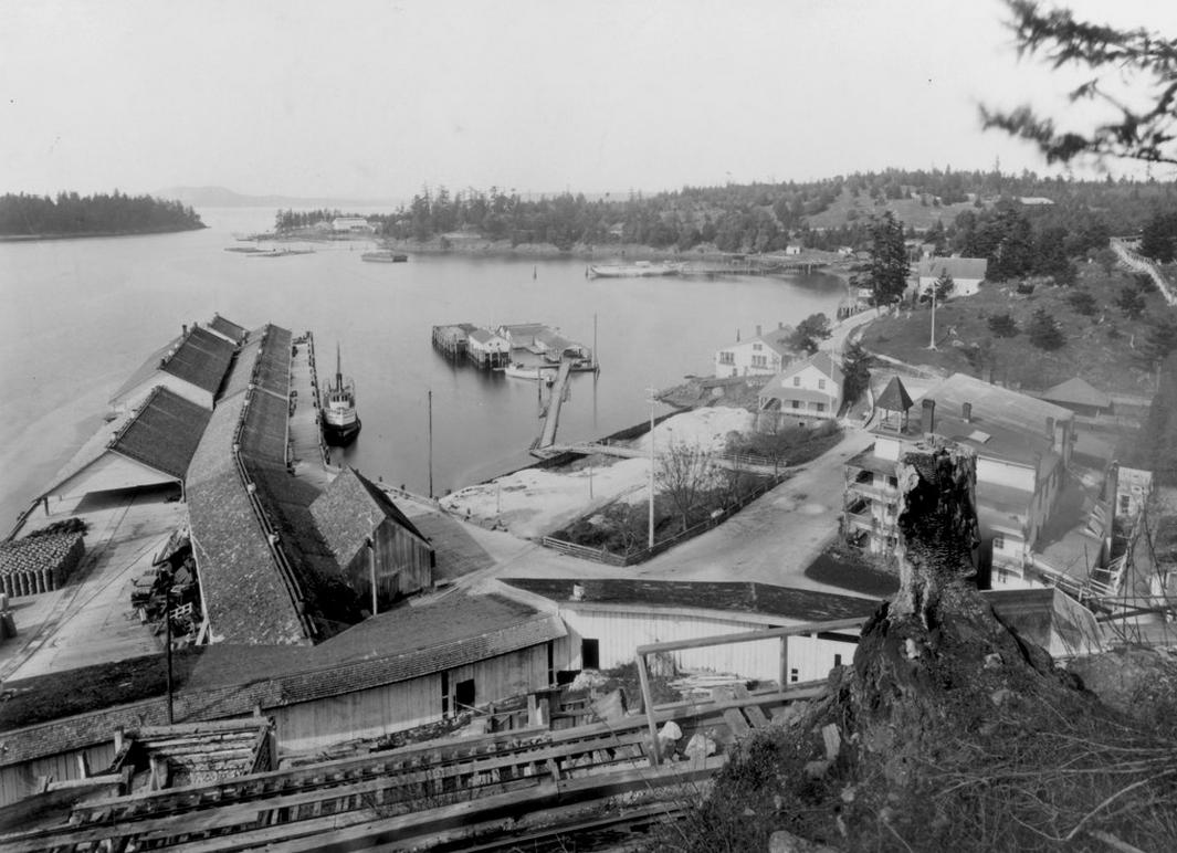 Roche Harbor early 1900's as seen from the hillside