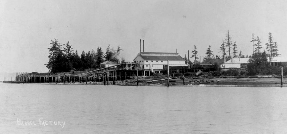 Early 1900's Barrel factory at Roche Harbor