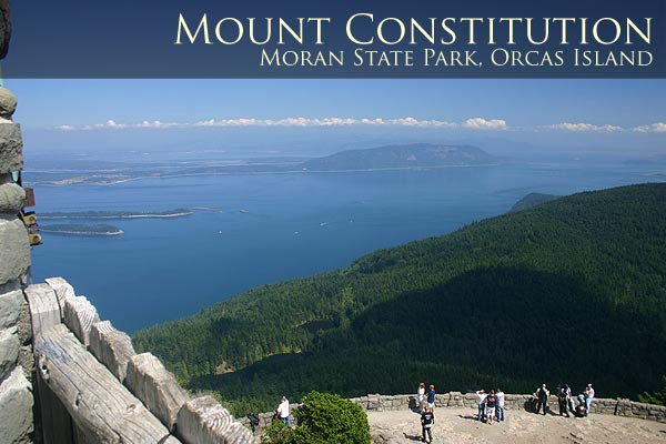 The view from the Summit of Mount Constitution on Orcas Island.