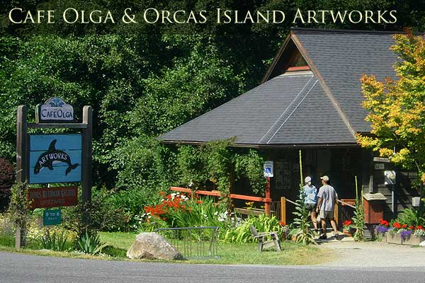 The Olga Café on the southeast shores of Orcas Island.