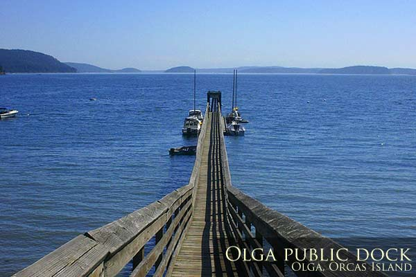 The public dock at Olga Village, Orcas Island