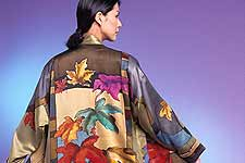 A hand-painted silk design from San Juan Silk.