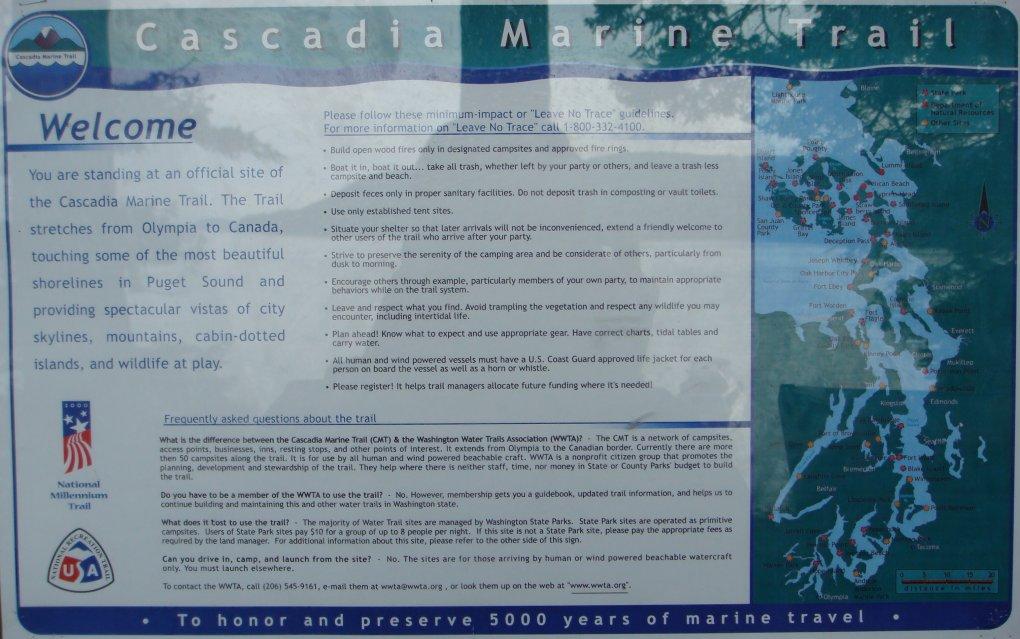 Cascadia Marine Trail information