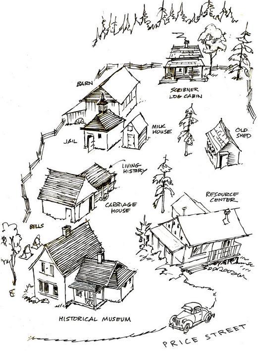 An illustration of the San Juan Historical museum