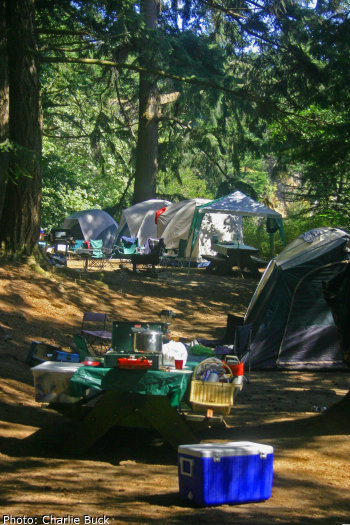 Camping On Orcas Island