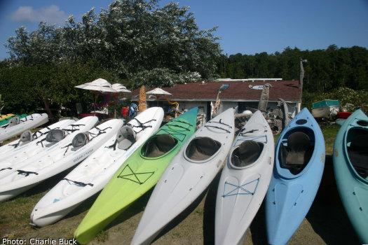 Sea kayaks for rent on Orcas Island