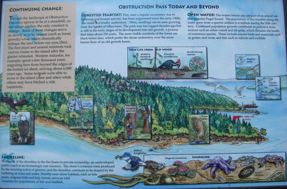 Obstruction Pass State Park interpretive display
