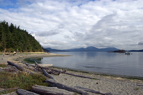 A picturesque day on Lopez Island. Taken from Spencer Spit State Park